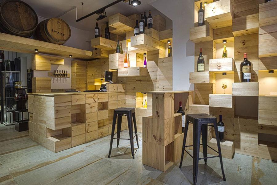 Diseño y ejecución de obra para local comercial Vinyes realizado por Dromstudio